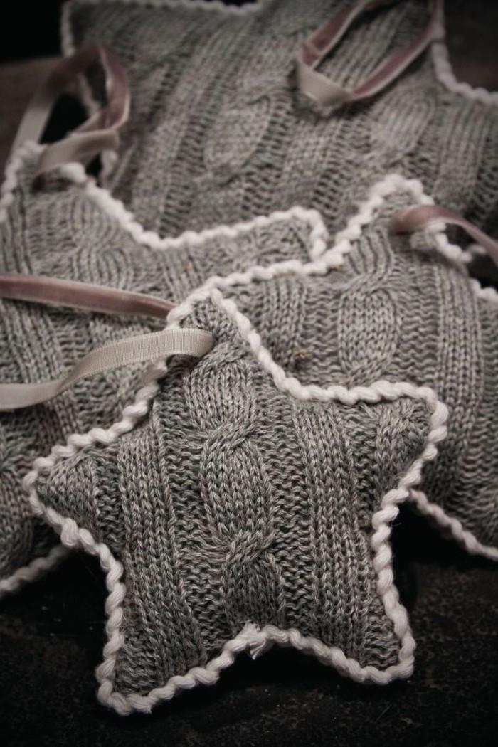bastelideen-winter-interessante-graue-sterne-nähen
