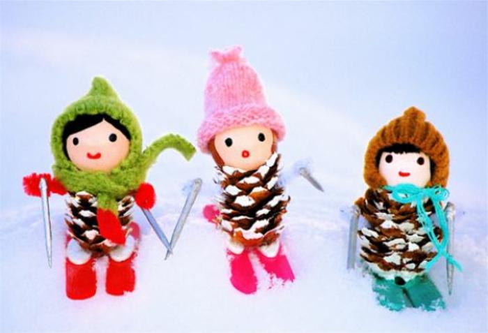 Weihnachtsbasteln mit kindern 105 tolle ideen for Mit tannenzapfen basteln