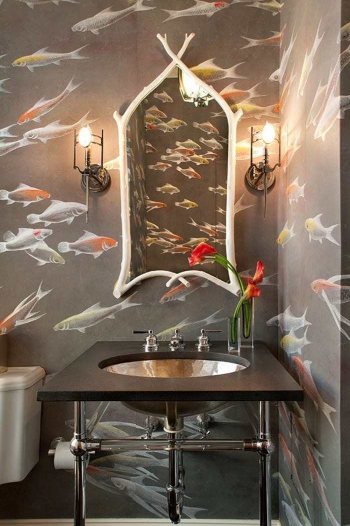 besondere-tapeten-Ozean-Fische-wunderschöne-Wandgestaltung