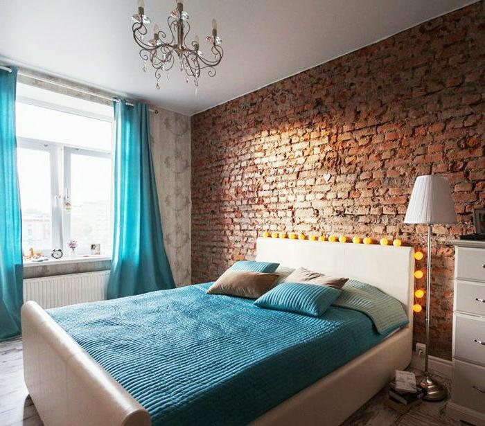 bunte-led-lampen-Dekoration-über-dem-Bett