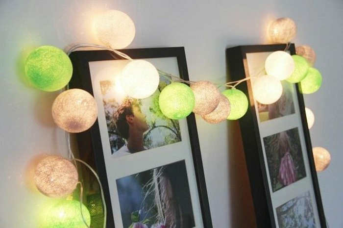 Party-lichterkette-bunte-glühbirnen-Fotorahmen-Dekoration