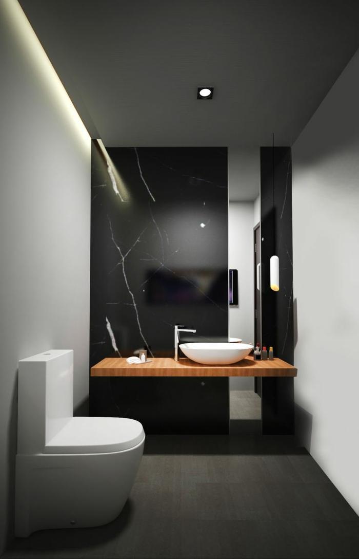 Elegante Bad Fliesen Ideen: schicke dunkle Ausstattung