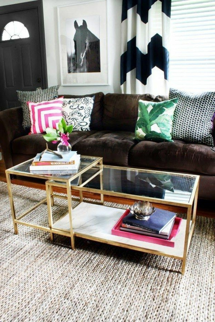 coole-gardinen-für-wohnzimmer-schwarz-weißes-Muster
