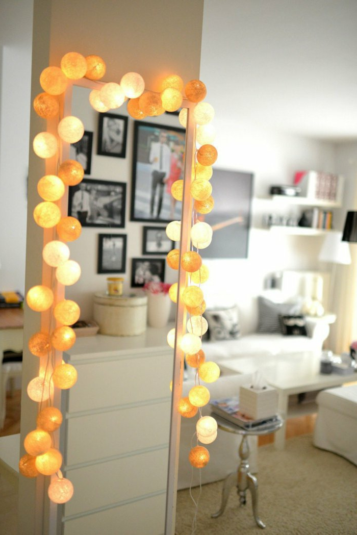 49 ideen f r dekoration mit party lichterkette - Cotton ballspractical ideas ...