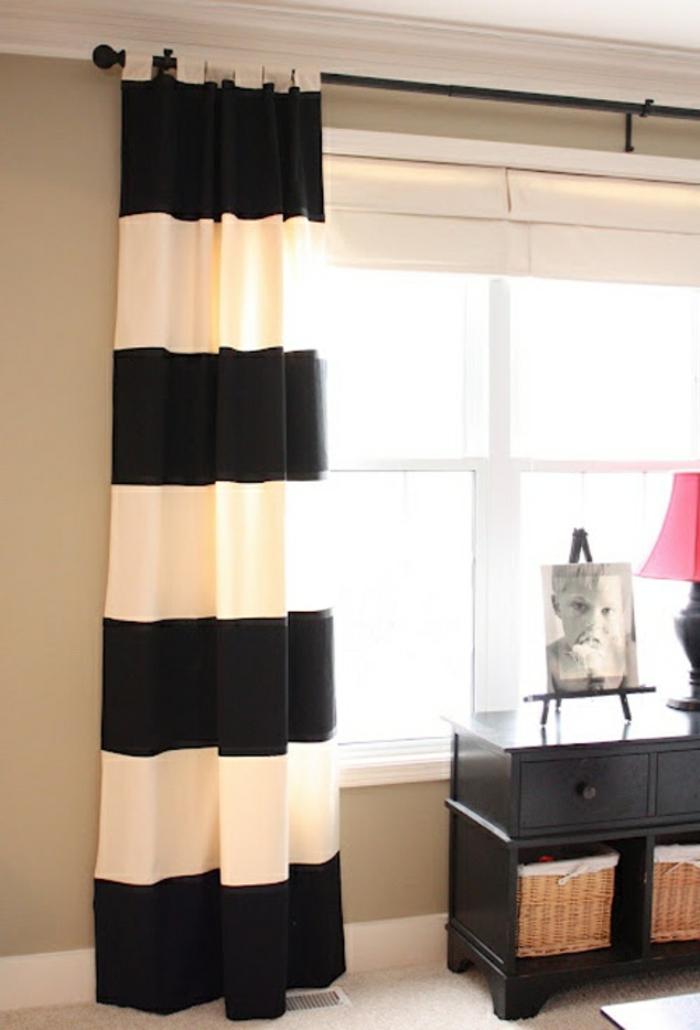 coole-schöne-vorhänge-schwarz-weiße-Streifen