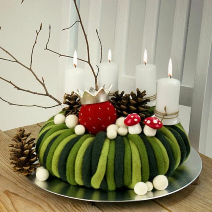 dekoideen-zum-weihnachten-grüne-gestaltung