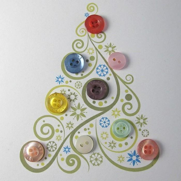 diy-ideen-zum-weihnachten-tannenbaum-figur-mit-vielen-knöpfen