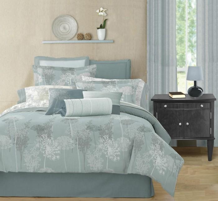 elegante-bettwäsche-in-modern-schlafzimmer-design-ideen