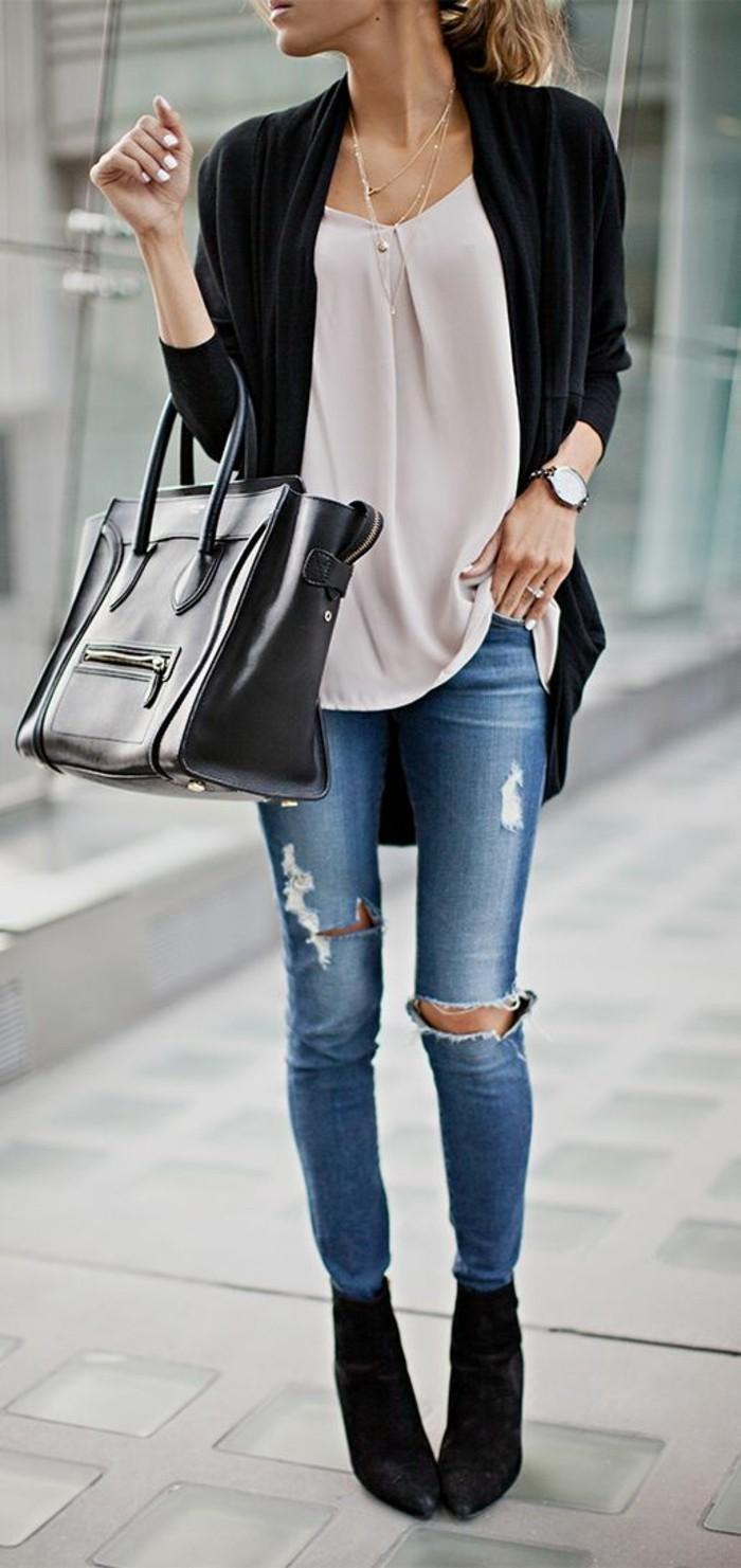 Beliebt Bevorzugt Zerrissene Jeans - 42 Styling Ideen damit! - Archzine.net #NG_04