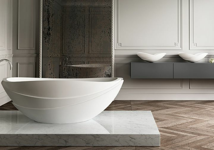 extravagantes-ovale-badewannen-Modell-eiförmig