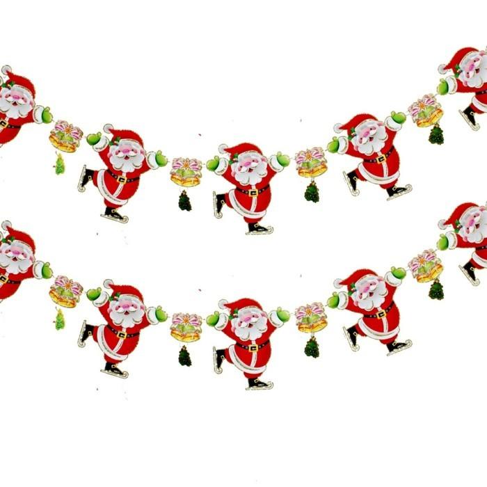 fensterdeko-zu-weihnachten-wunderschöne-weihnachtsmänner-hängende-deko