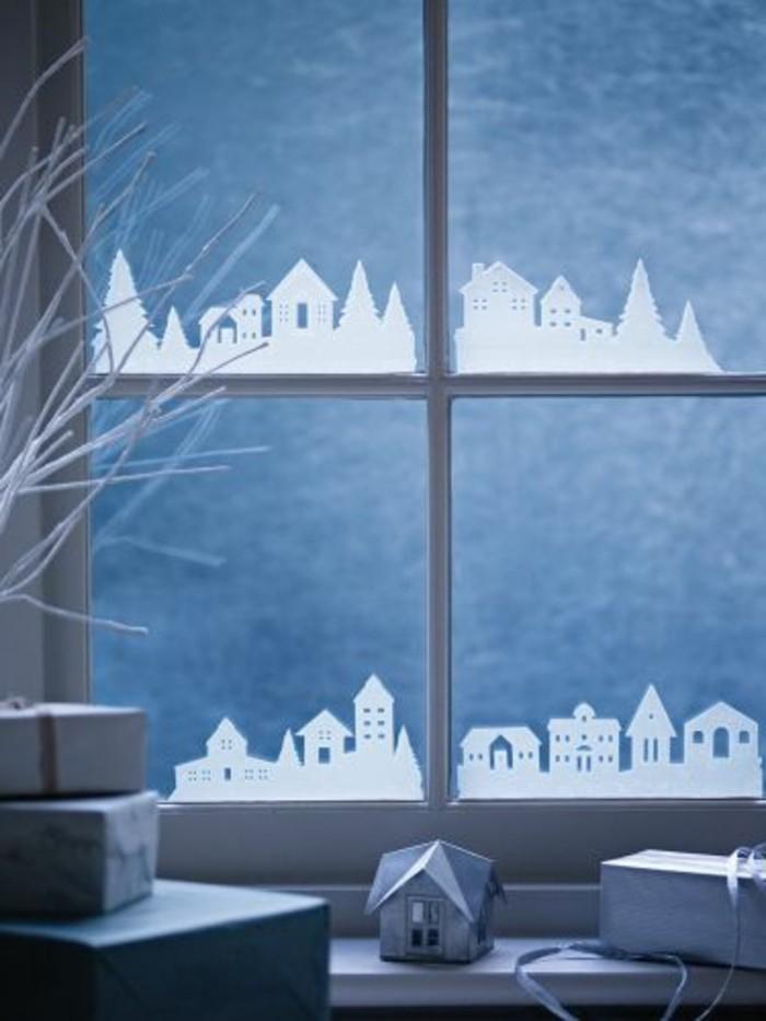 fensterdeko-zu-weihnachten-wunderschönes-modell-schnee-fitguren-aufkleben