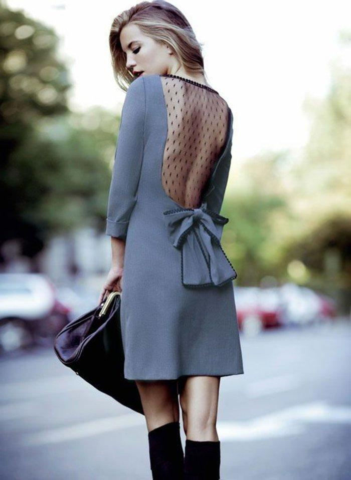 festliche-kleider-kurz-grau-Band-durchsichtiger-Rücken