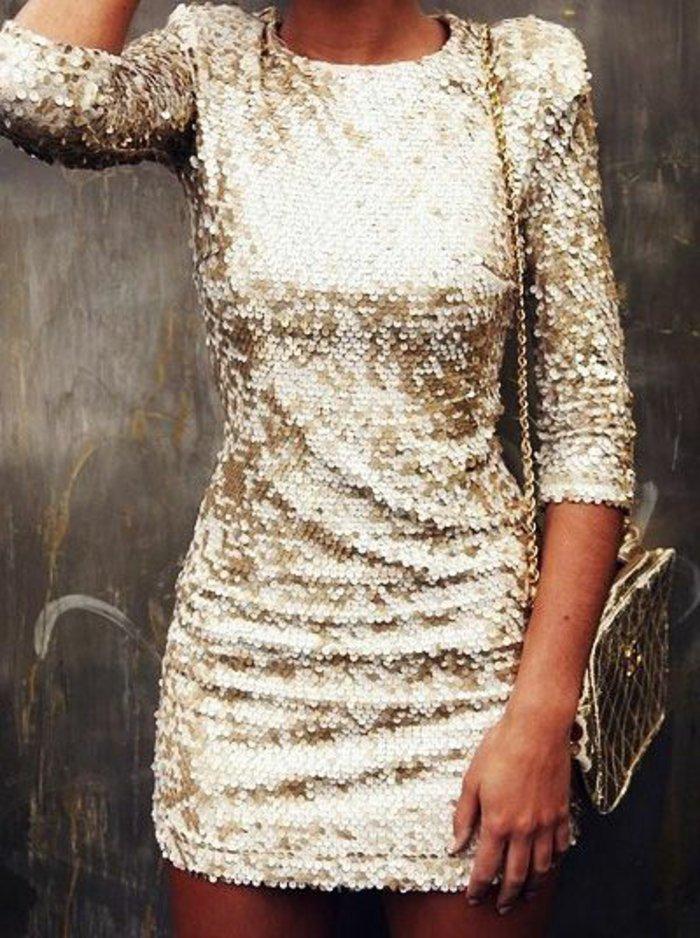 festliche-kleider-mit-goldenen-Pailletten-Hit-für-Silvester