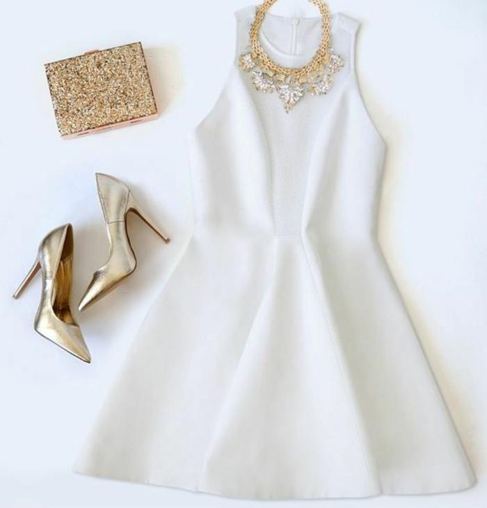 schicke-Kleider-festliches-kleid-für-SIlvester-weiß-abendkleider-kurz-elegant