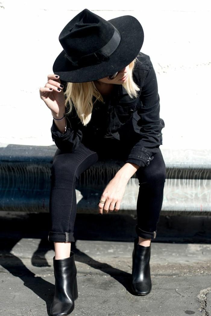 filz-hut-damen-schwarz-modelle