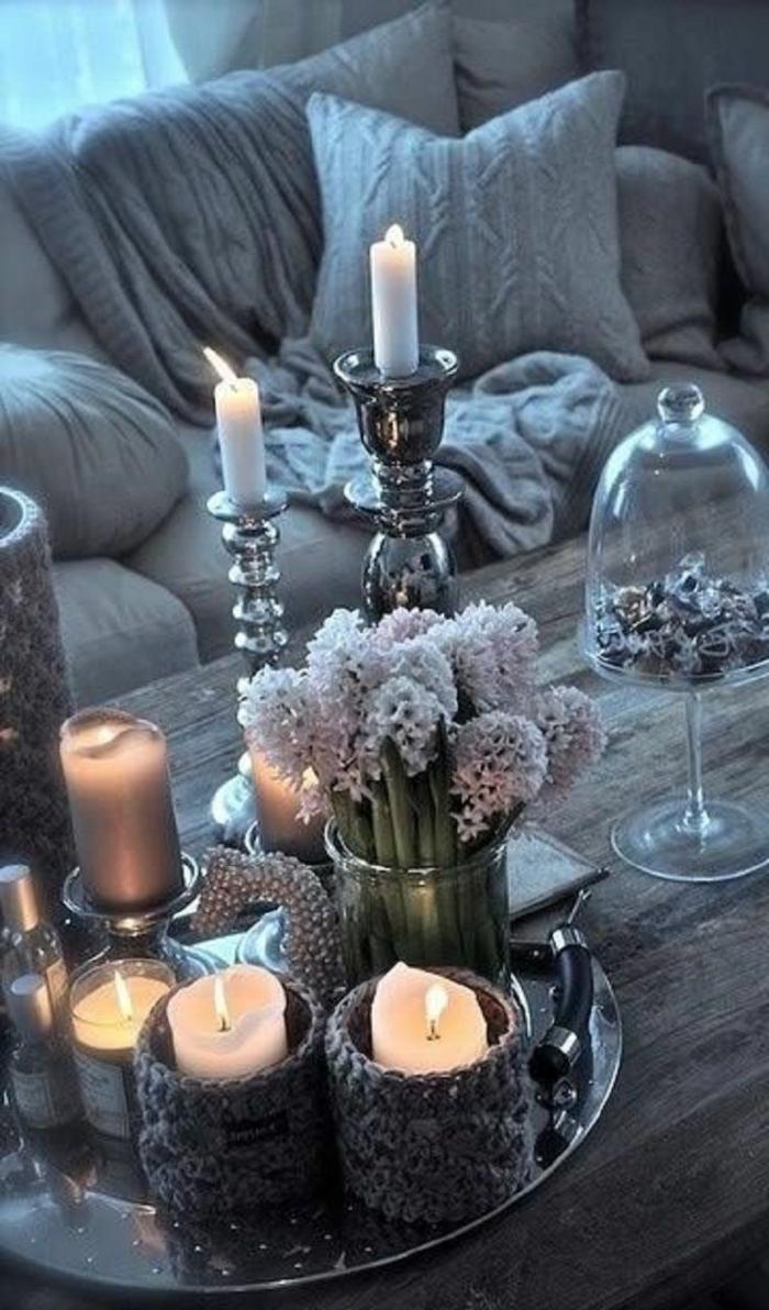 tischdeko für wohnzimmer:gemütlich aussehende tischdekoration fürs Wohnzimmer