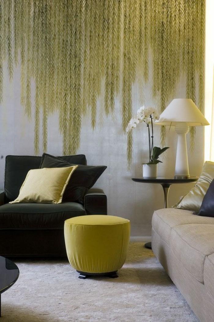 gemütliches-Wohnzimmer-schöne-tapeten-naturaler-Look