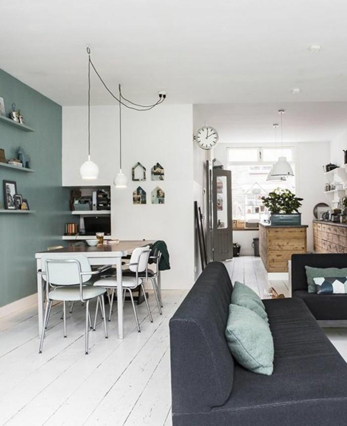 gemütliches-wohnzimmer-farblich-gestalten-moderne-wandfarben-Minze-Farbe