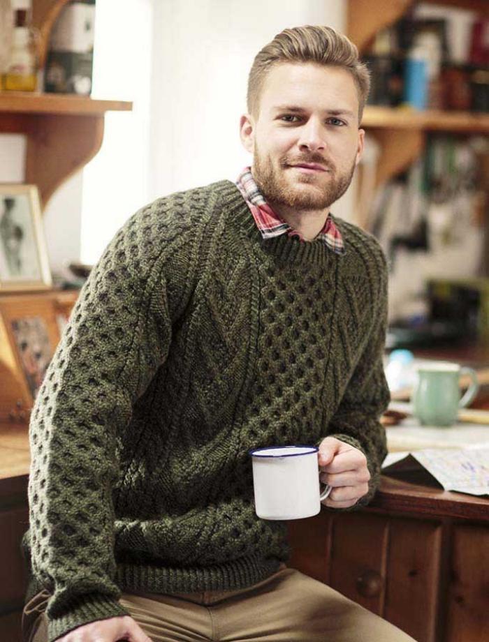 grüne-pullover-für-Männer-irische-strickmuster-irische-Pullover