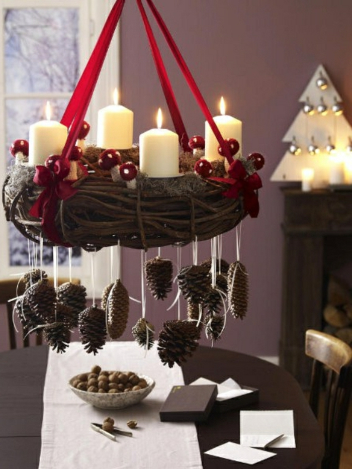 106 atemberaubende adventskranz ideen for Decoracion para el hogar 2016