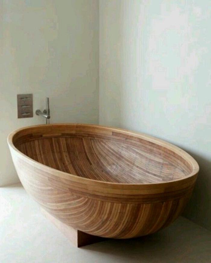 handgemachte-hölzerne-ovale-Badewanne-kreatives-Design