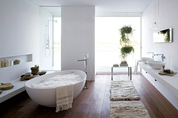 ovalförmige badewanne im kleinen bad - interessante moderne bäder