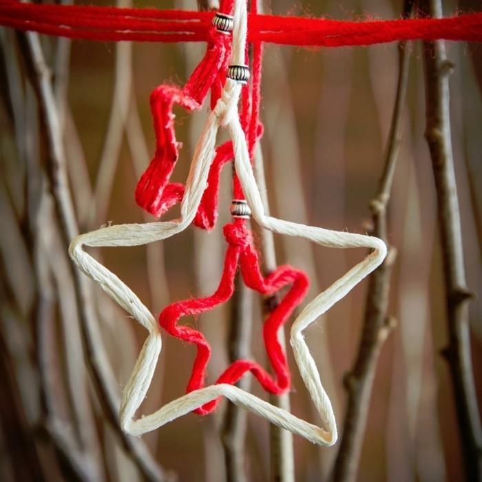 interessante-weihnachtsgeschenke-basteln-ein-hängender-stern