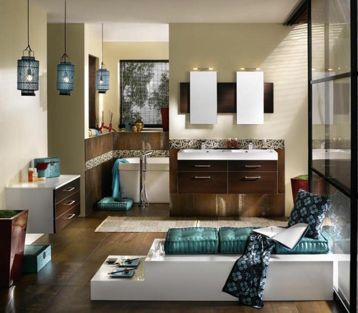 Badezimmer grün beige: 60 frische farbideen für wandfarbe in grün ...