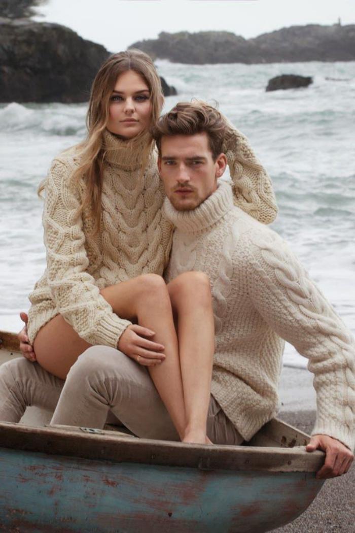 irische-Pullover-beige-für-Damen-und-Herren