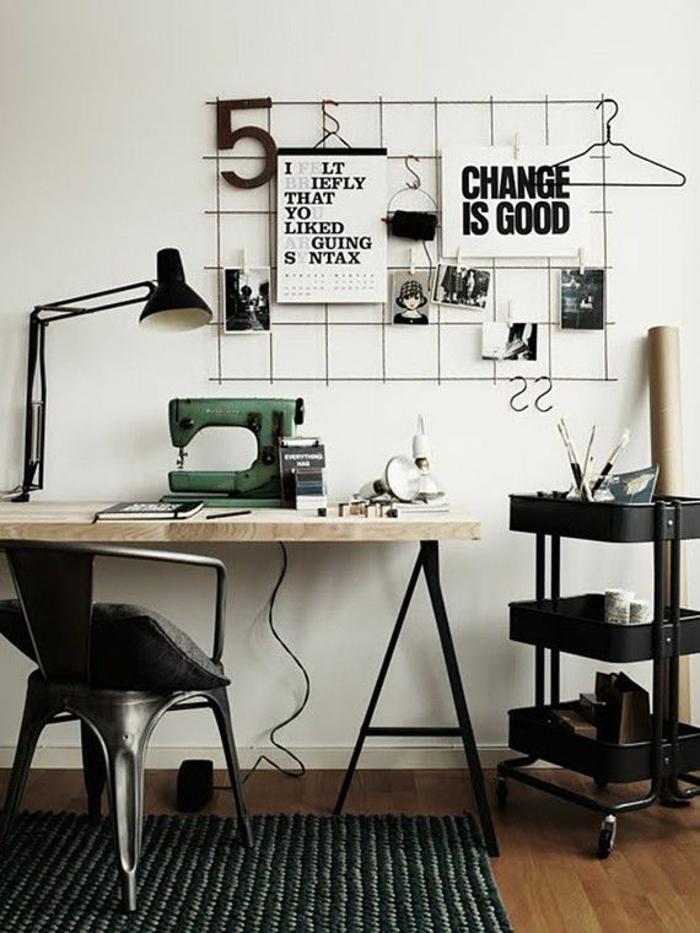 kreative-wohnideen-fürs-Arbeitszimmer-Nähmaschine-Dekoration-auf-dem-Schreibtisch