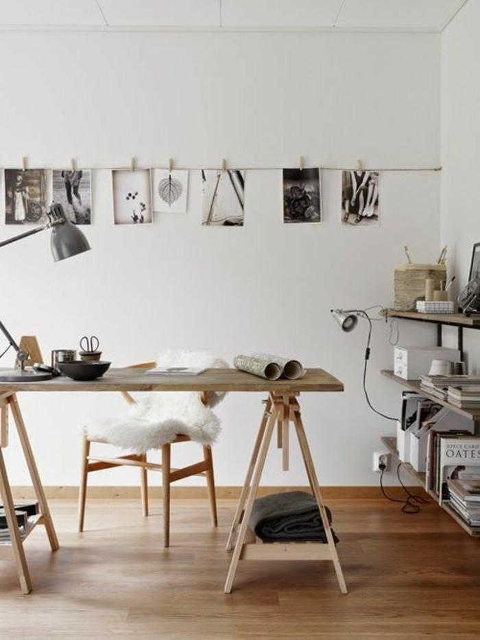 kreative-wohnideen-fürs-Arbeitszimmer-hölzerne-Möbel-Fotos