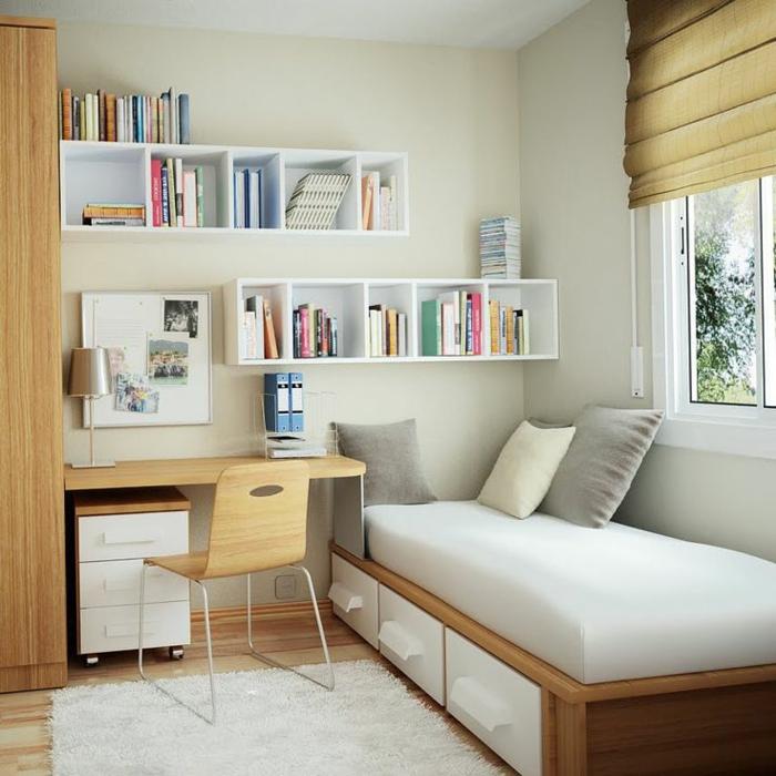 quadratisches schlafzimmer einrichten. Black Bedroom Furniture Sets. Home Design Ideas