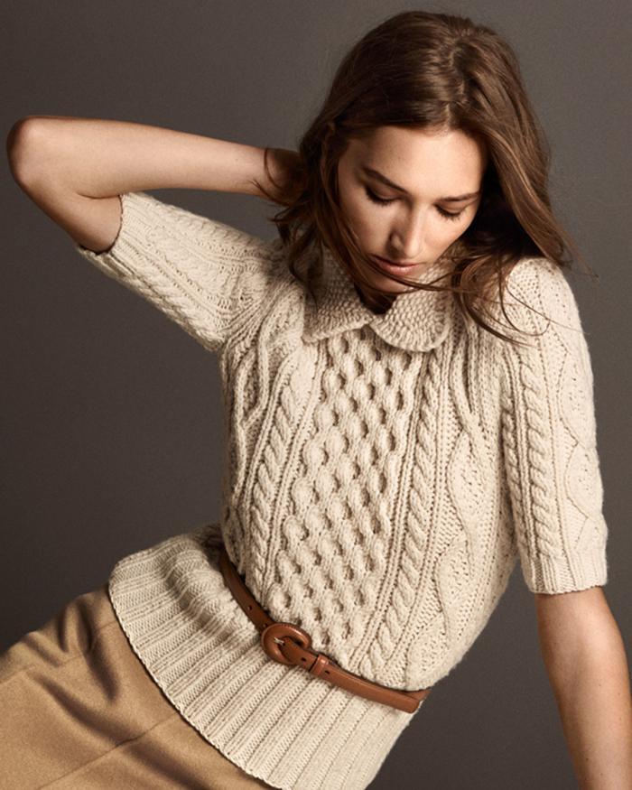 kurzes-Modell-pullover-wolle-damen-beige-Zopfen-Muster