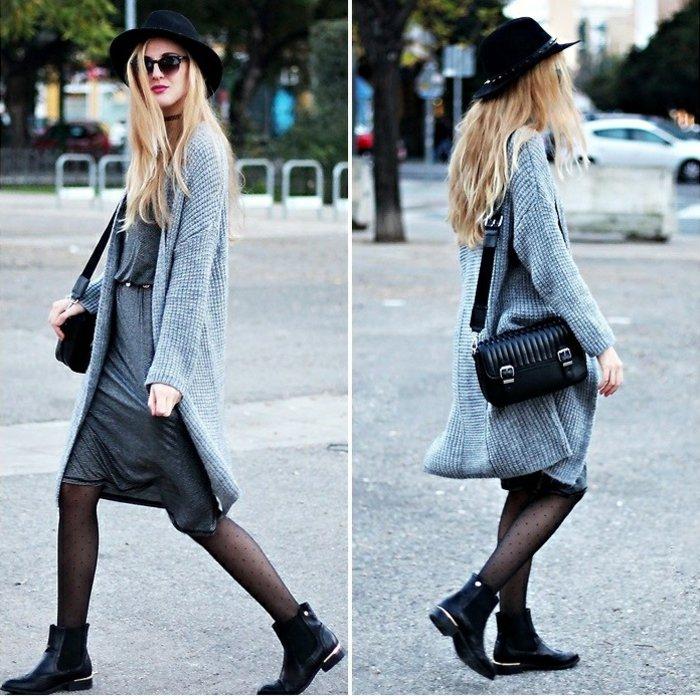 lange-strickjacke-grau-schwarzer-Hut
