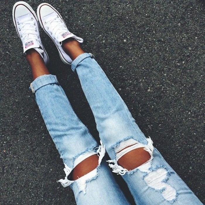 Adidas Ripped Jean Shoes