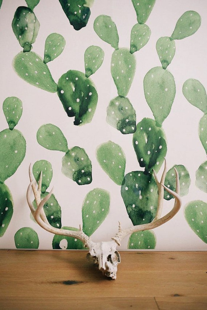 lustiges-tapeten-muster-Kaktus-rustikales-Souvenier