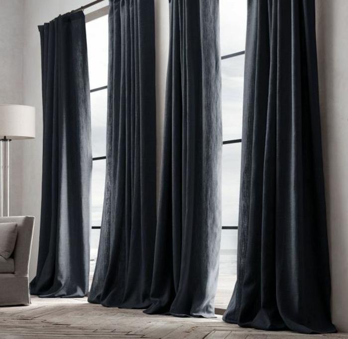 luxuriöse-Gardinen-Ideen-lange-moderne-gardinen-für-wohnzimmer
