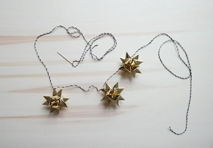 wunderschöne dekorationen zum weihnachten basteln -kleine sterne