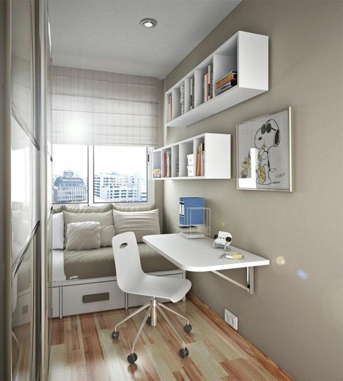 moderne-einrichtungsideen-für-kleines-Arbeitszimmer-Designer-Schreibtisch-lustiges-Wandbild-Sofa