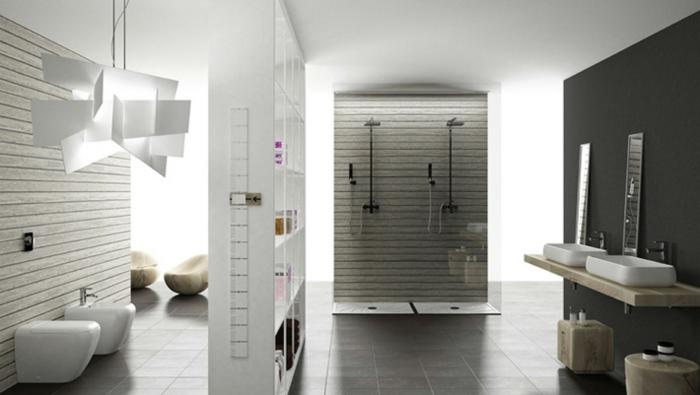 Badezimmer fliesen ideen grau: badezimmer fliesen dekoration ideen ...