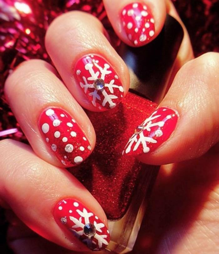 nageldesign-weihnachten-bilder-modisch-rot-farbe