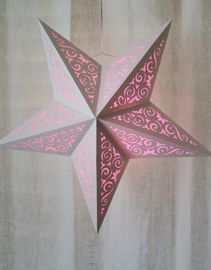 origami-sterne-rosiges-modell-leuchtende-gestaltung