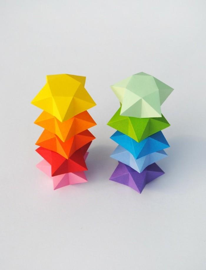origami-sterne-wunderschöne-bunte-farben