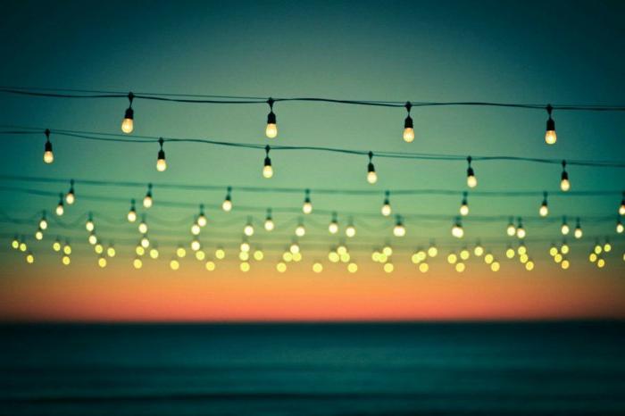 party-lichterkette-außen-garten-lichterkette-Sonnenuntergang