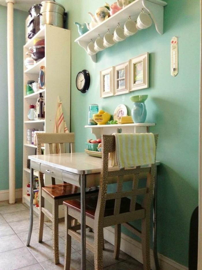schöne-wandfarben-im-Esszimmer-coole-farbgestaltung-grün