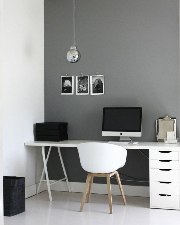 schöne-wohnideen-fürs-Arbeitszimmer-schwarz-weiß-graues-Interieur
