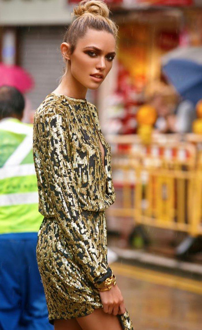 schicke-abendkleider-festliche-kleider-damen-golden-und-schwarz-zusammenbringen