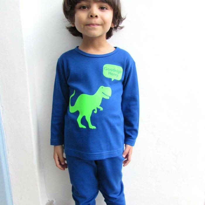 schlafanzug-jungen-aus-zwei-Teilen-blau