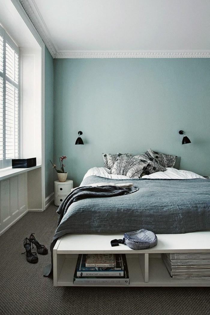 Wandfarbe Wohnzimmer Schwarz Weiße Möbel